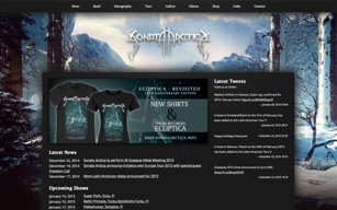 Band Website Design